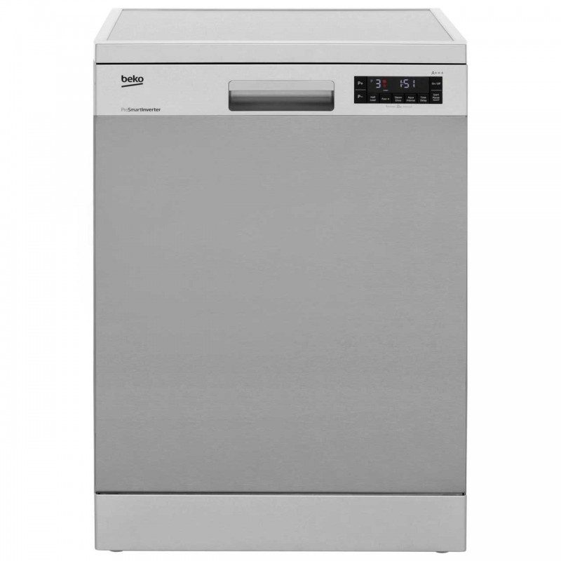 Beko DFN28R30X Standard Dishwasher - Stainless Steel