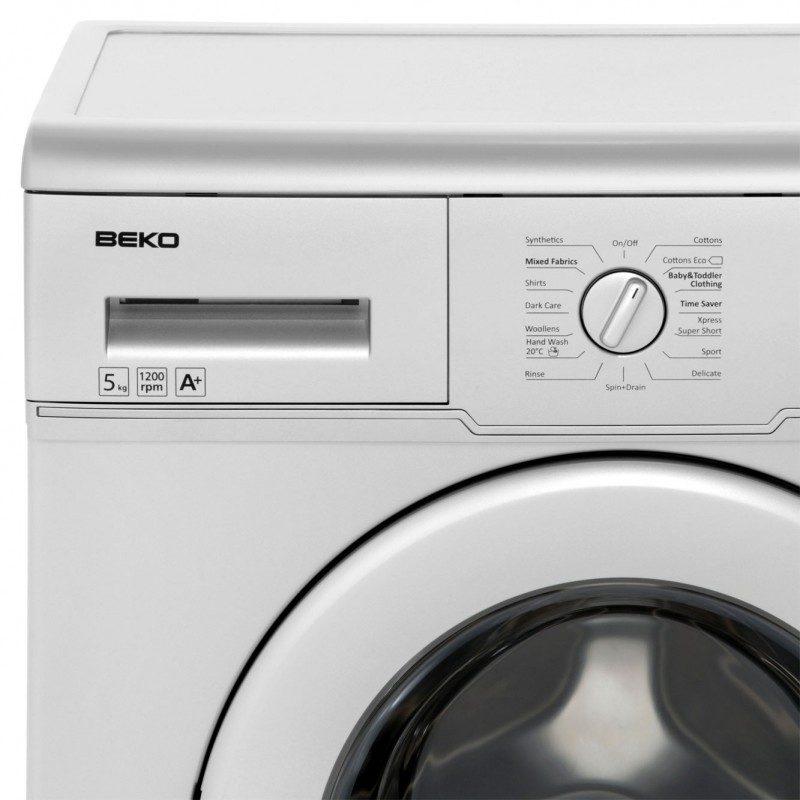 Beko WM5122S 5Kg Washing Machine with 1200 rpm - Silver