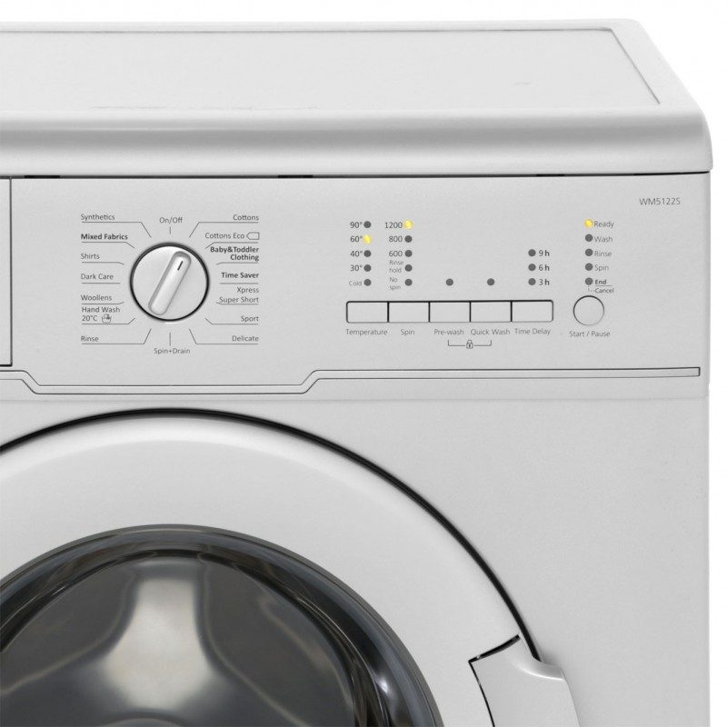 Beko WM5122S 5Kg Washing Machine with 1200 rpm - Silver