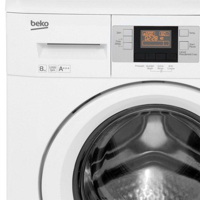Beko WMB81243LW 8Kg Washing Machine with 1200 rpm - White