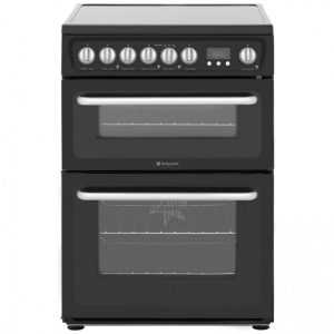 Hotpoint HARE60K Electric Cooker with Ceramic Hob - Black