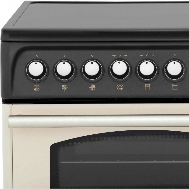 Cannon Traditional CH60ETCS Electric Cooker with Ceramic Hob - Cream
