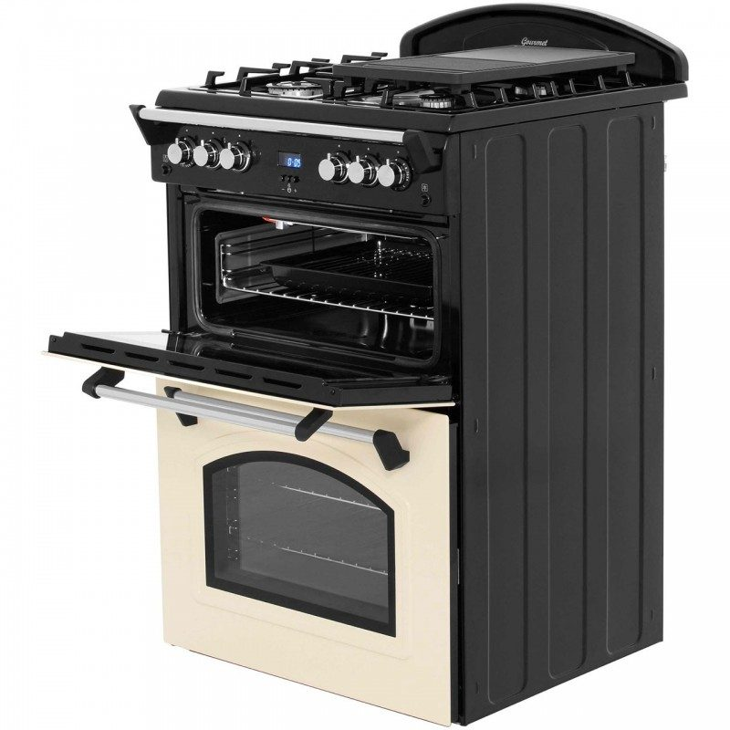 Leisure GRB6GVK Gas Cooker with Full Width Gas Grill - Black