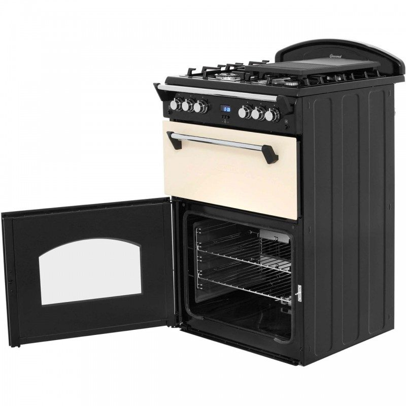 Leisure GRB6GVC Gas Cooker with Full Width Gas Grill - Cream