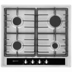 Neff T23S36N0GB 58cm Gas Hob - Stainless Steel