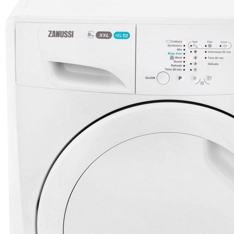 Zanussi Lindo300 ZDC8202P Condenser Tumble Dryer - White