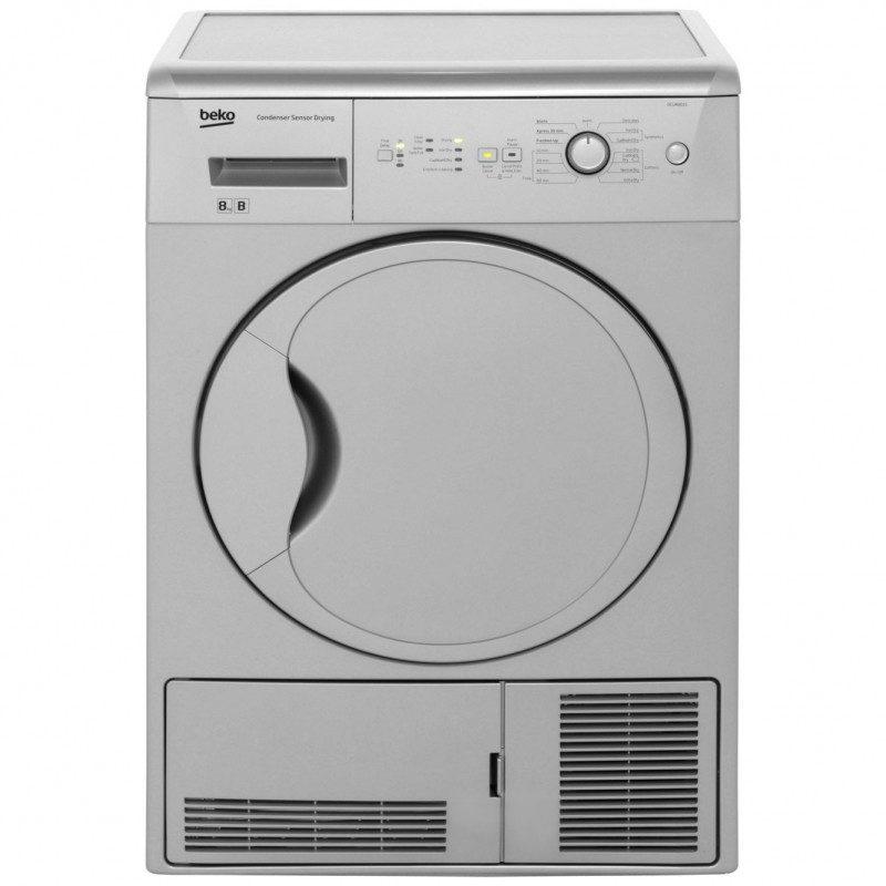 Beko DCUR801S Condenser Tumble Dryer - Silver
