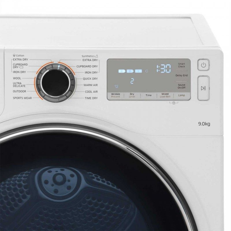 Samsung DV90H8000HW Heat Pump Tumble Dryer - White