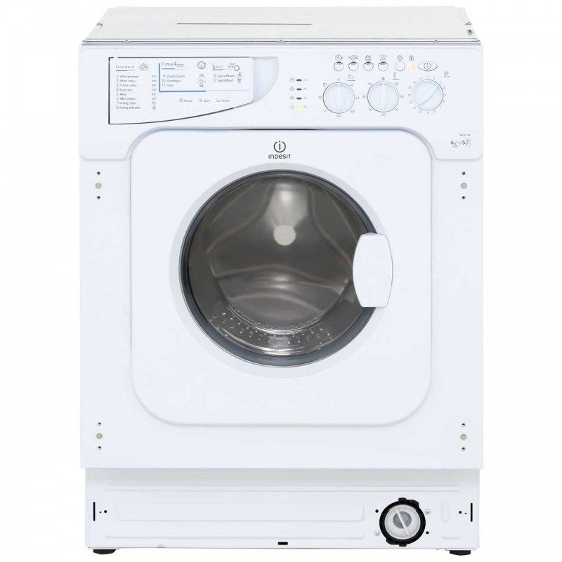 Indesit IWDE126 Integrated 6Kg / 5Kg Washer Dryer with 1200 rpm