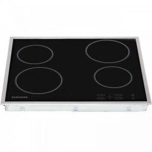 Samsung C61R1AAMST 58cm Ceramic Hob - Black / Stainless Steel
