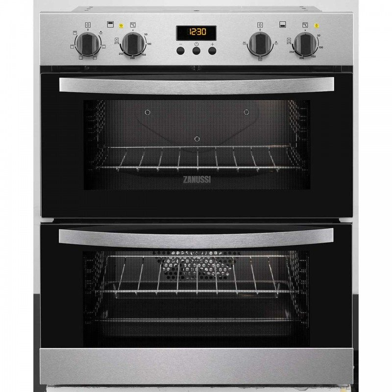 Zanussi ZOF35517DX Built Under Double Oven - Stainless Steel